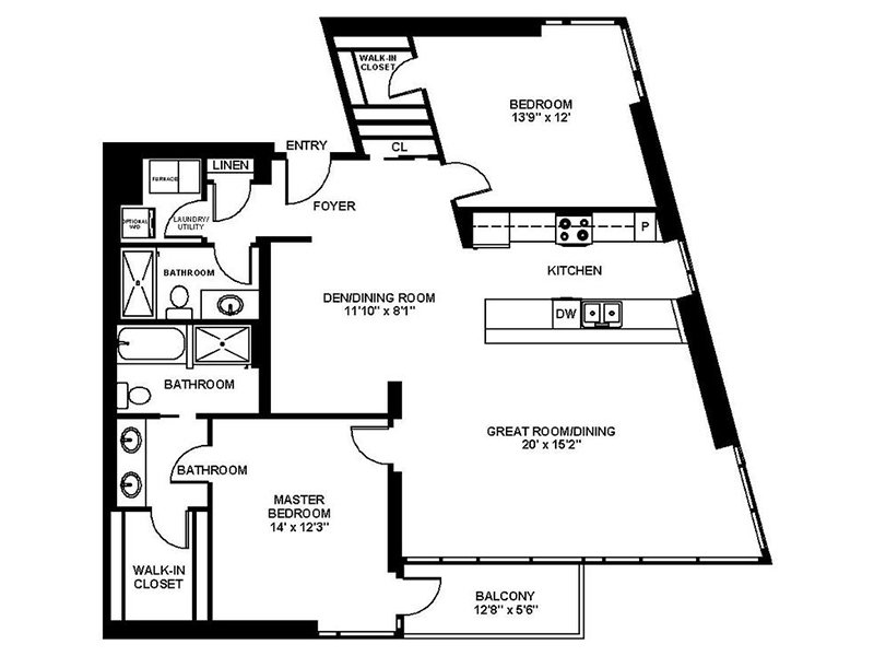Our B8 is a 2 Bedroom, 2 Bathroom Apartment