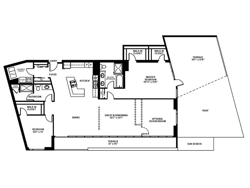Our C3 is a 3 Bedroom, 2 Bathroom Apartment