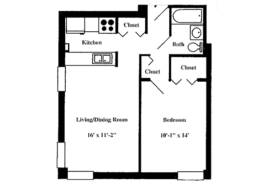 Floorplan for Westwind Towers Apartments