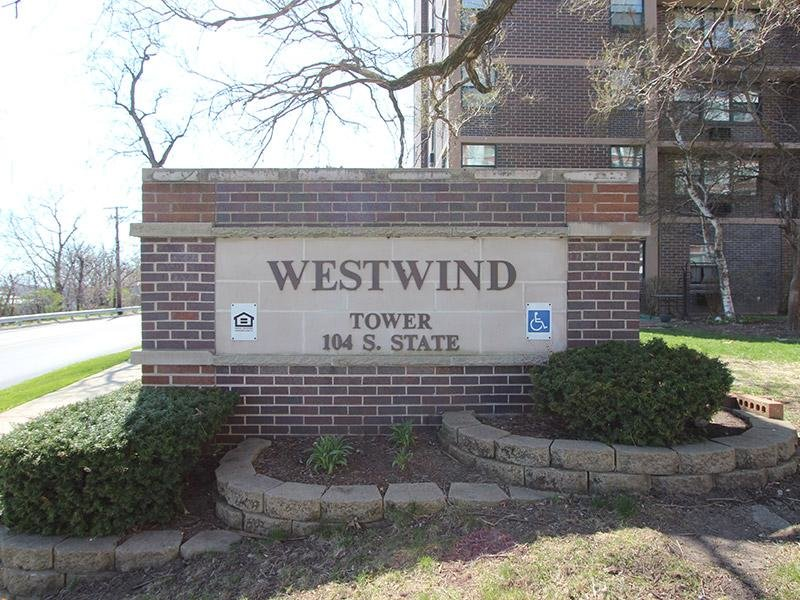 Welcome Sign | Westwind Towers Apartments in Elgin