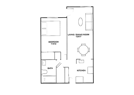 Floorplan for Westwood Terrace Apartments
