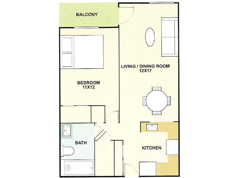 Our 1 Bedroom, is a 1 Bedroom, 1 Bathroom Apartment