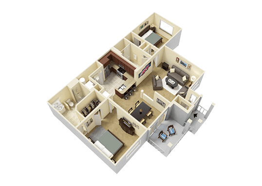 Floorplan for River Run at Naperville Apartments