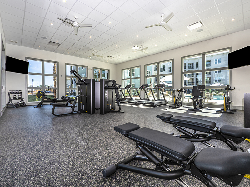 Fitness Center   Atlantic on the Boulevard Apartments in North Charleston, SC