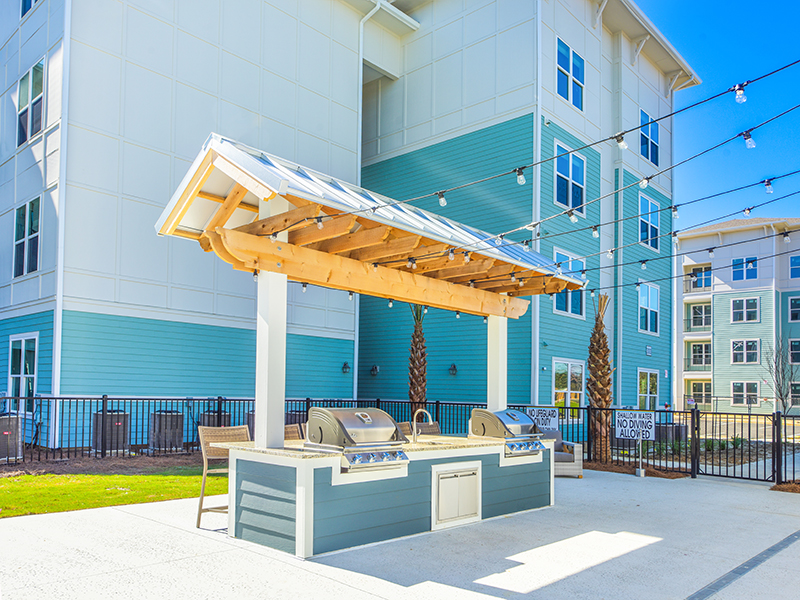 Grill and BBQ Area   Atlantic on the Boulevard Apartments in North Charleston, SC