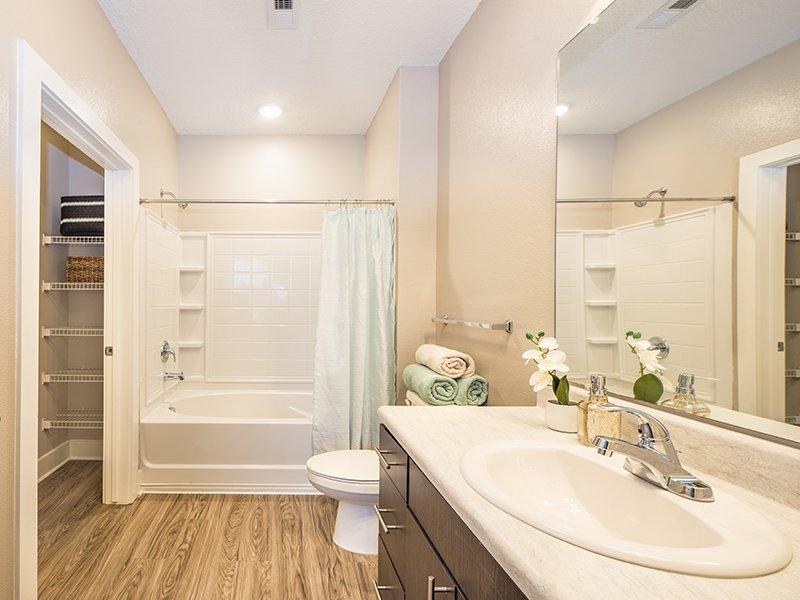 Bathroom   Atlantic on the Boulevard Apartments in North Charleston, SC