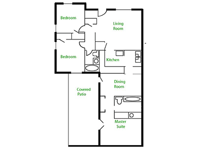 Floorplan for Park Shadows Apartments