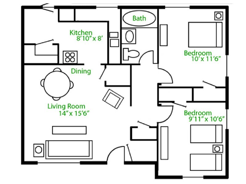 Floor Plans at Park Shadows Apartments