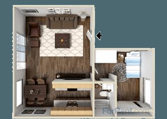 Floorplan for Park Village Apartments