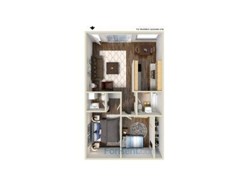 Our B2-920 is a 2 Bedroom, 2 Bathroom Apartment