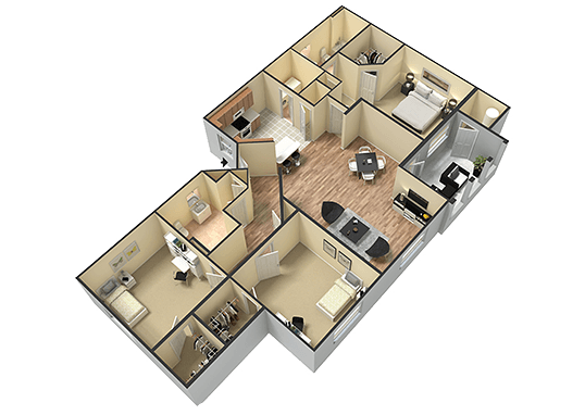 Floorplan for San Valiente Apartments