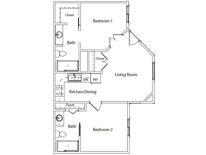 Floor Plans at Hillside  Apartments