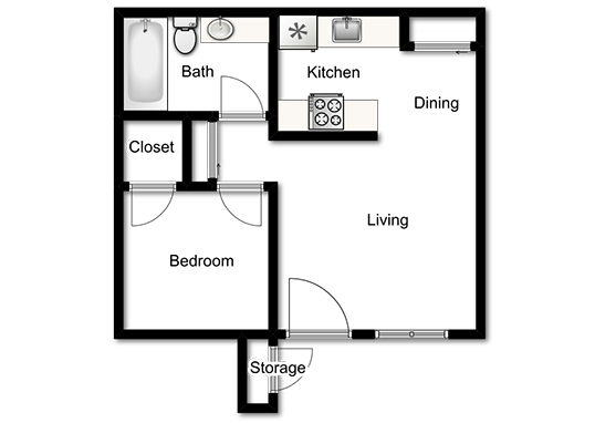Floorplan for Willowcreek Apartments
