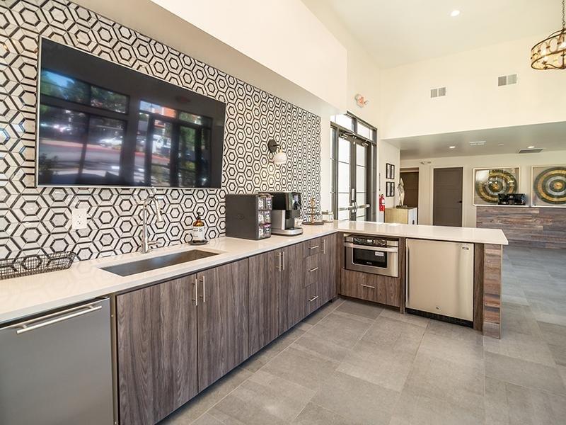 Clubhouse Kitchen | Entrada Apartments