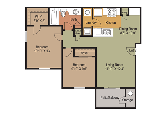 Floorplan for Heritage at Deer Valley Apartments