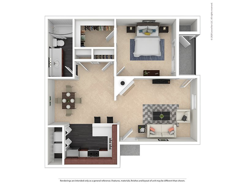 Our 1X1-863 Platinum is a 1 Bedroom, 1 Bathroom Apartment
