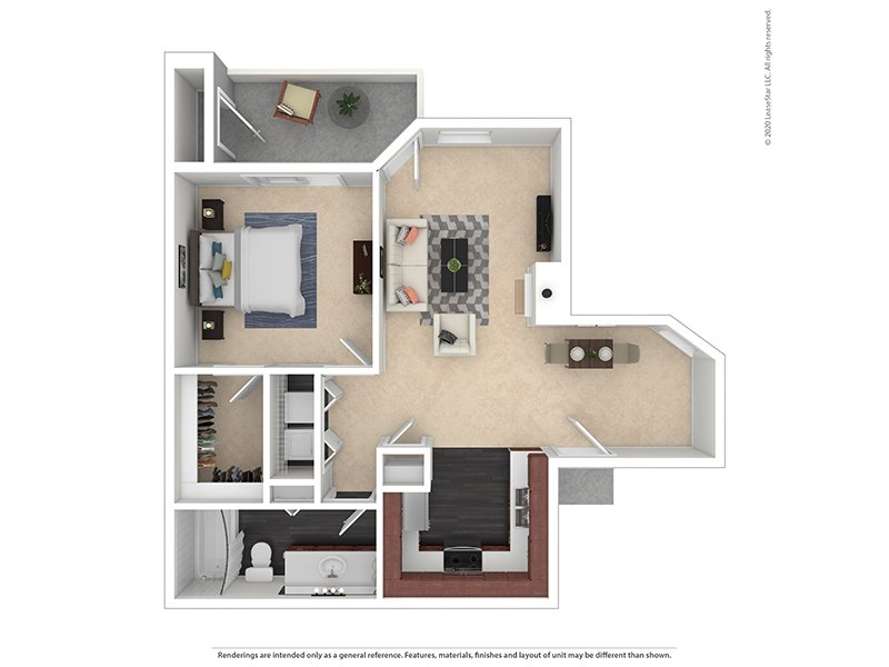 Our 1X1-906 Gold is a 1 Bedroom, 1 Bathroom Apartment