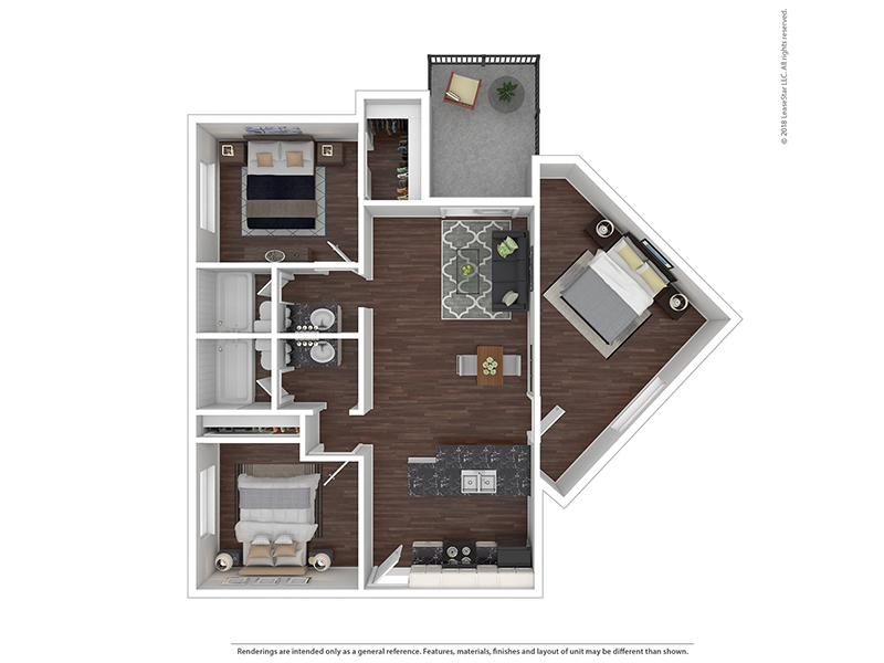 Our 2 Bedroom 2 Bath B2-1013 is a 2 Bedroom, 2 Bathroom Apartment