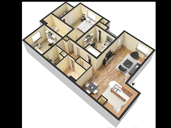 Floorplan for Avenue 25 Apartments