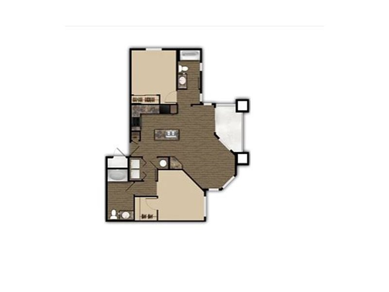 Our 2x2 is a 2 Bedroom, 2 Bathroom Apartment