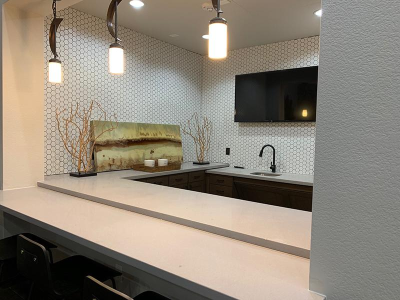 Clubhouse Kitchen   Elevation Luxury Apartments
