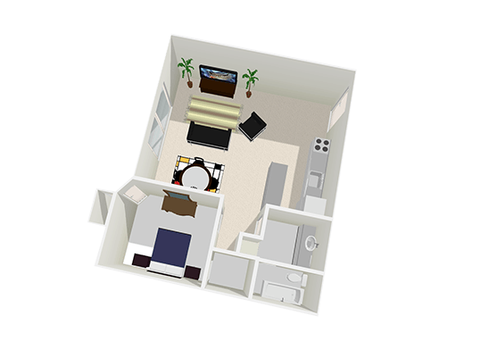 Floorplan for Crystal Creek AZ Apartments
