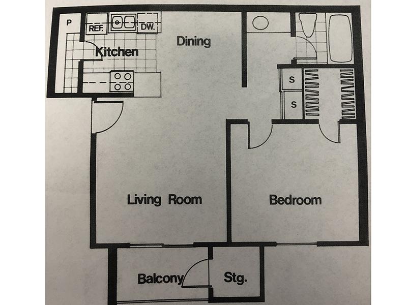 Our 1 Bedroom 1 Bath is a 1 Bedroom, 1 Bathroom Apartment