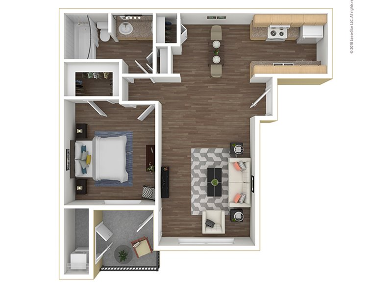 Our A1-740 is a 1 Bedroom, 1 Bathroom Apartment