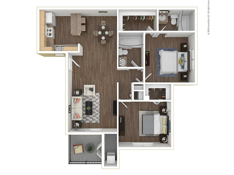 Our B2-916 is a 2 Bedroom, 2 Bathroom Apartment