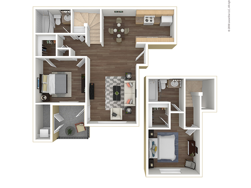 Our B2-940 is a 2 Bedroom, 2 Bathroom Apartment