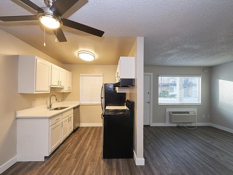 Kitchen and Living Room   Aspire Salt Lake Apartments
