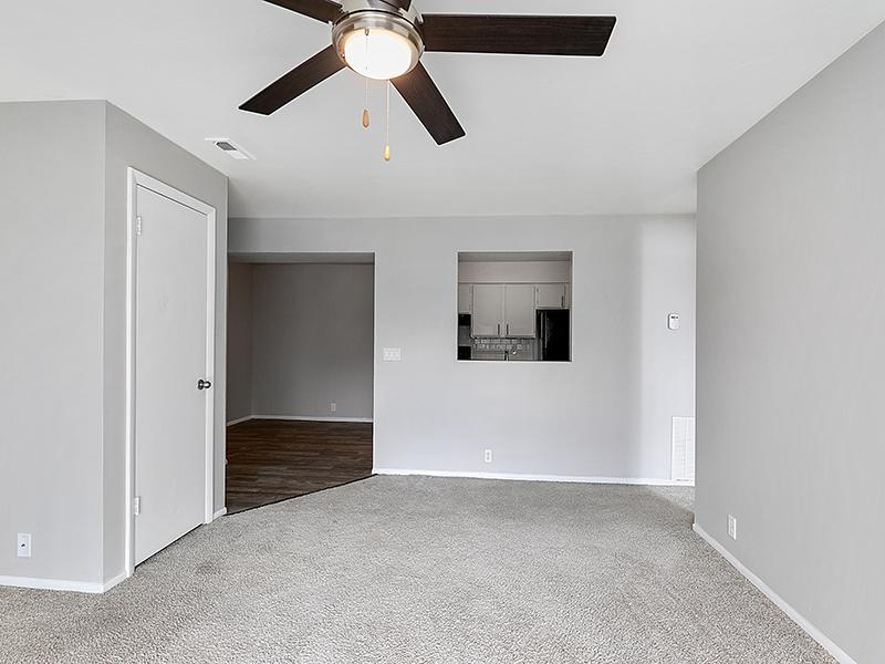 Carpeted Living Room   Aspire West Valley Apartments