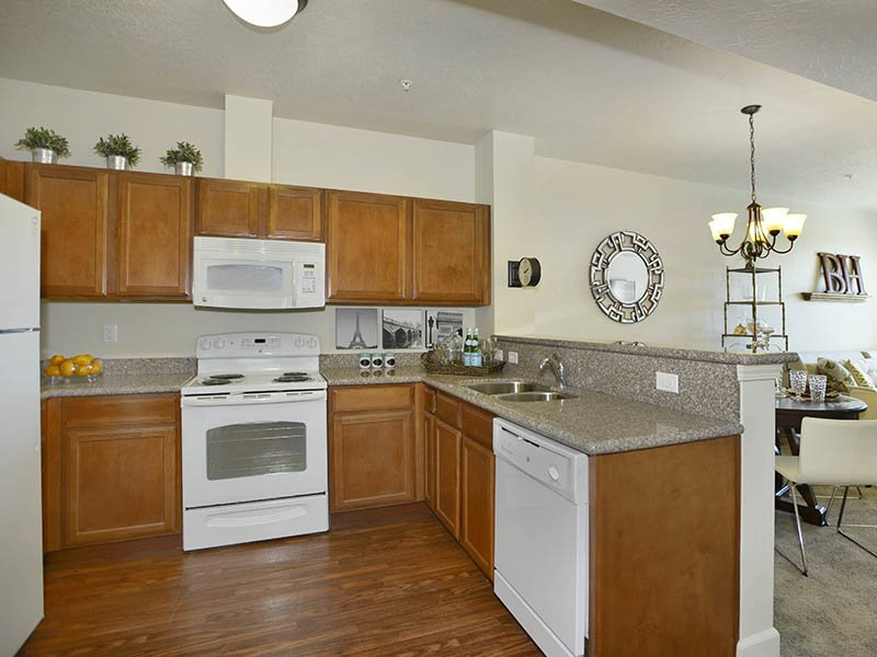 Fully Equipped Kitchen | Birkhill Apartments in Murray, UT