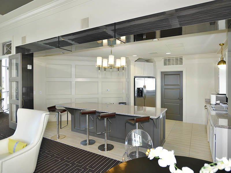 Clubhouse Kitchen | Birkhill Apartments in Murray, UT