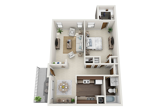 Floorplan for Butterfield Trail Apartments