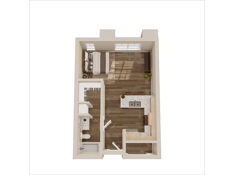 Our Studio is a Studio, 1 Bathroom Apartment