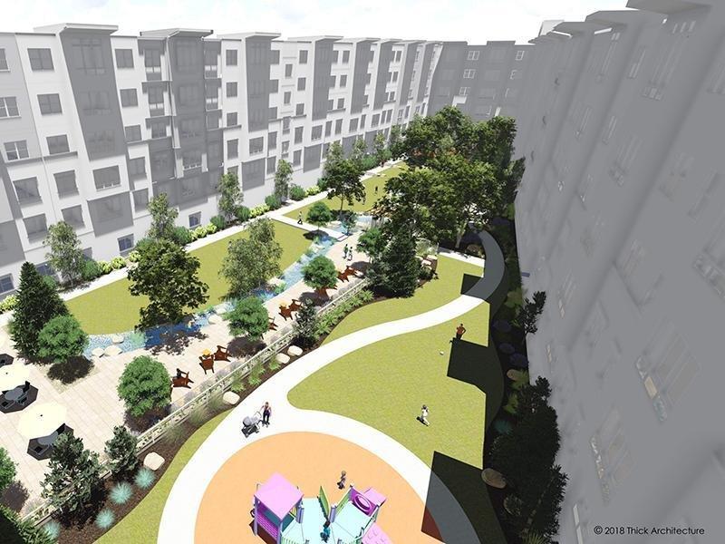 Courtyard Rendering   Canyon Vista Apartments in Draper, UT