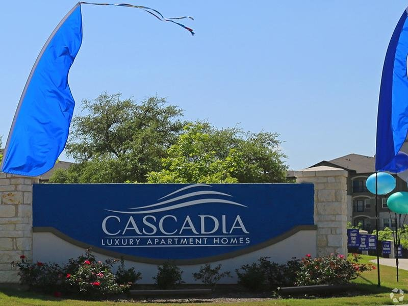 Welcome Sign  | Cascadia Apartments