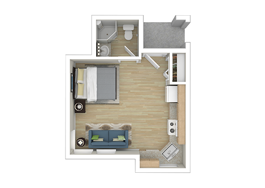 Floorplan for Cubix Northgate Apartments