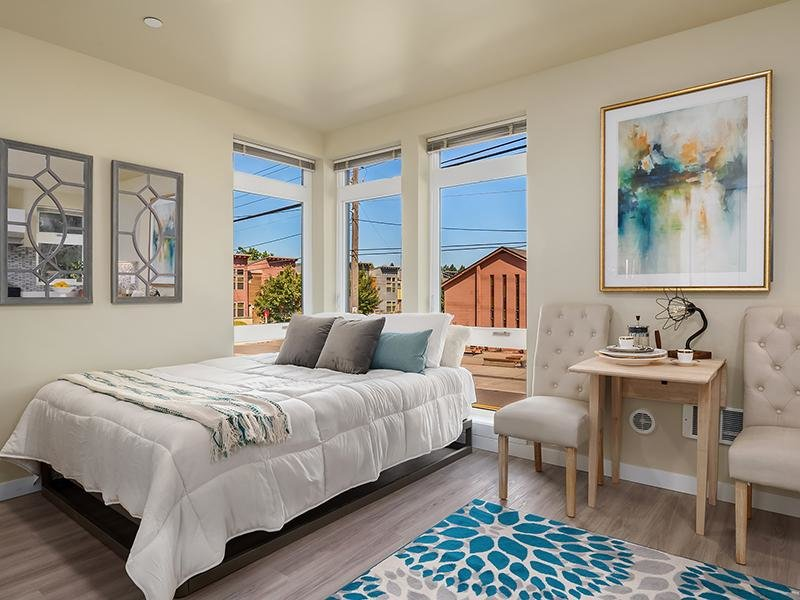 Model Bedroom | Cubix Northgate in Seattle, WA