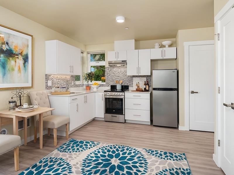 Model Living Room | Cubix Northgate in Seattle, WA