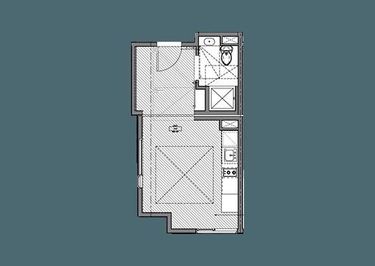 Floorplan for Cubix North Park Apartments