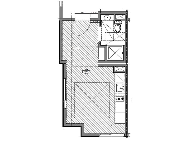 Our Corner Studio is a Studio, 1 Bathroom Apartment