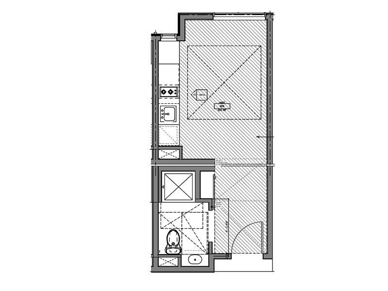 Our Microstudio is a Studio, 1 Bathroom Apartment