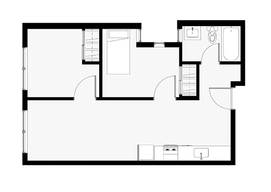 Floorplan for Cubix Crown Hill Apartments
