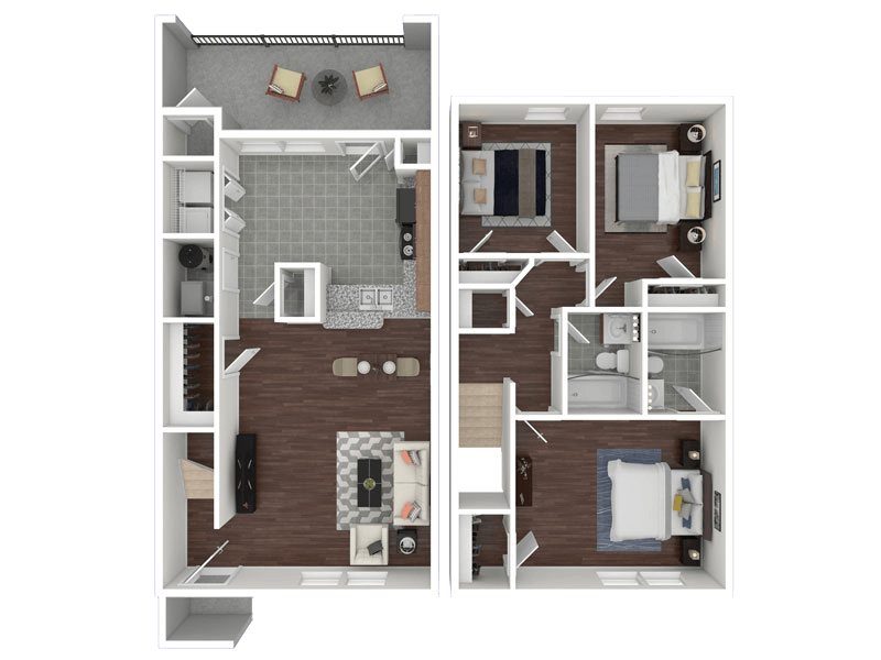 Floorplan for Greens of Hickory Trail Apartments