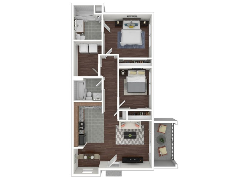 Our 2X2 Flat Renovated is a 2 Bedroom, 2 Bathroom Apartment