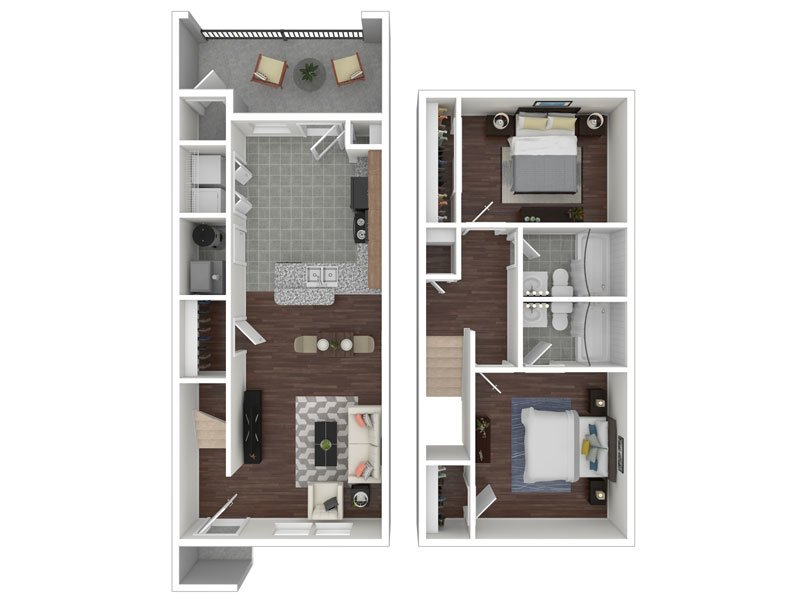 Our 2X2 Townhome Renovated is a 2 Bedroom, 2 Bathroom Apartment