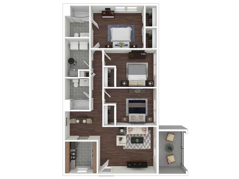 Our 3X2 Flat Renovated is a 3 Bedroom, 2 Bathroom Apartment