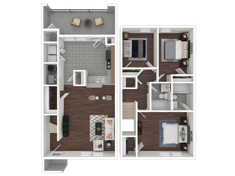 Our 3x2 Townhome Renovated is a 3 Bedroom, 2 Bathroom Apartment